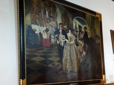 """Bolívar y el ramo nupcial en el cuadro """"Matrimonio del Libertador"""" de Tito Salas (1921)"""