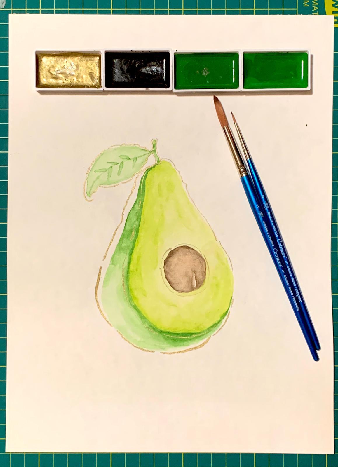 avocado watercolour paper