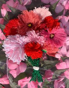 Pom Pom Bouquet 3D Embroidery