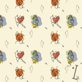 Romantic Line Art Pattern