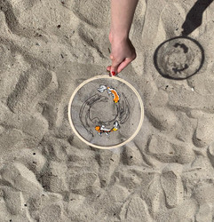 Koi Wave Embroidery