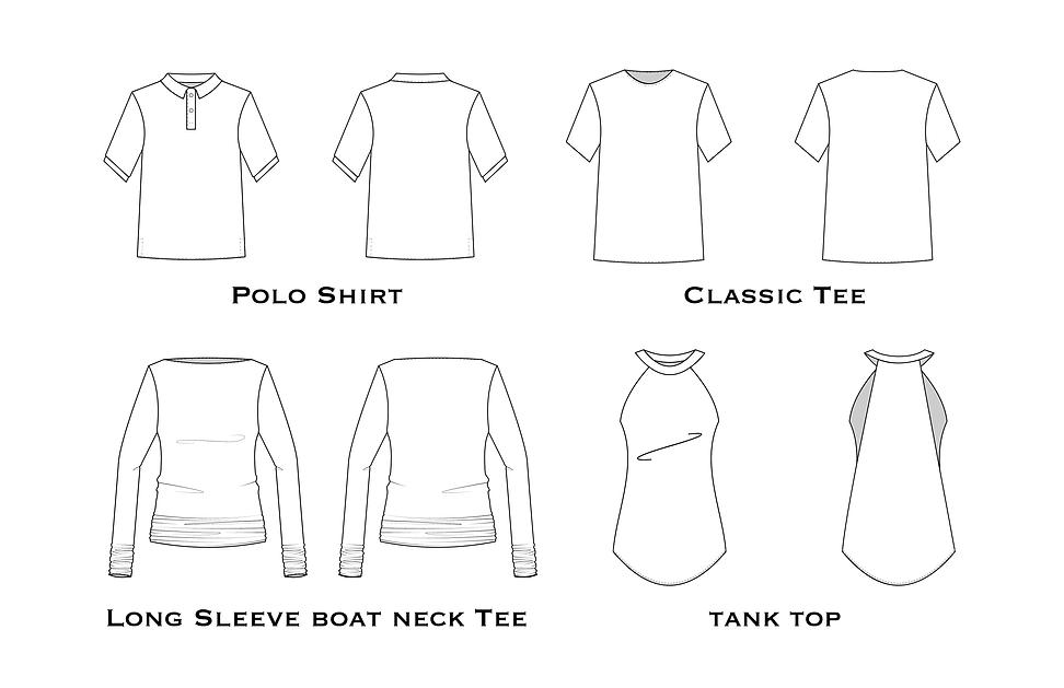 Garment Flat design for portofolio garme
