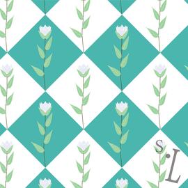 Geometry Floral Pattern