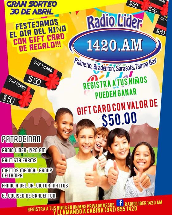 """Celébra el """"Dia del Niño"""" 30 de Abril con Radio Lider 1420 y todos los niños lideres de nu"""