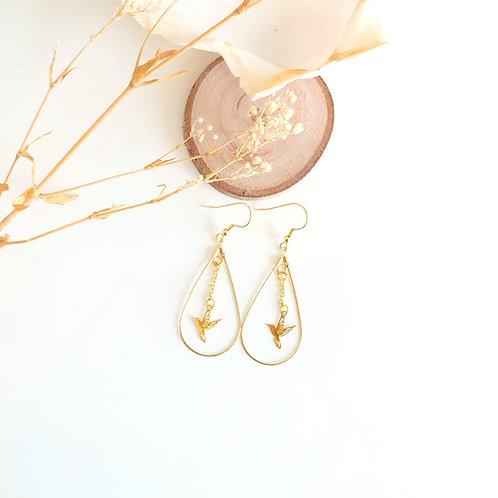 Boucles d'oreille dorée