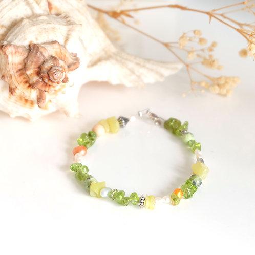 Bracelet de pierres vertes
