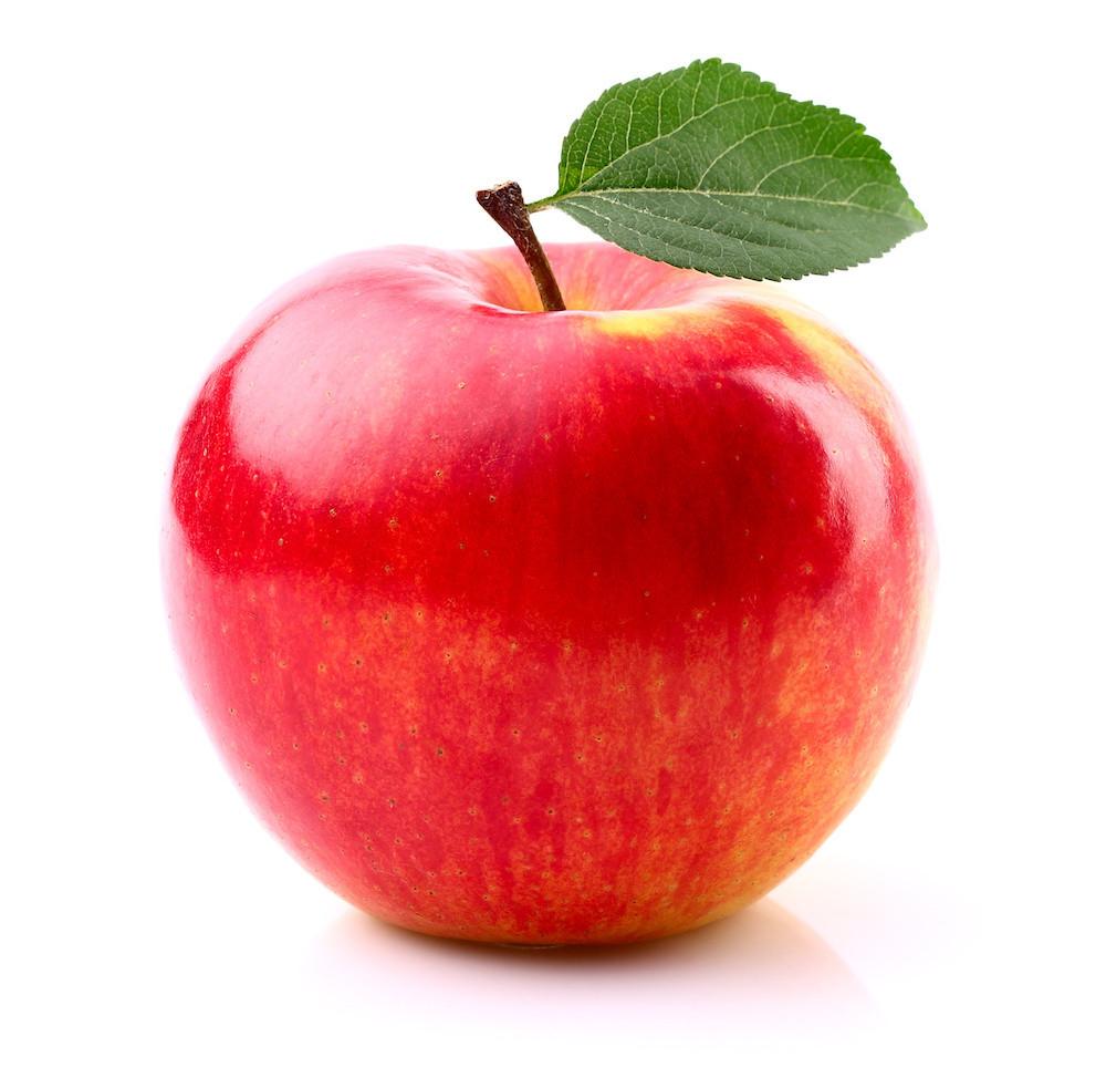 Ein Apfel ist das Markenzeichen der Firma Apple