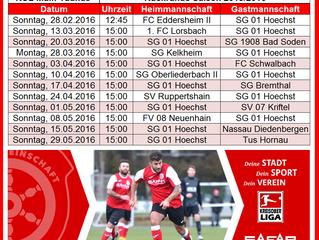 Spielplan Rückrunde Saison 2015/16