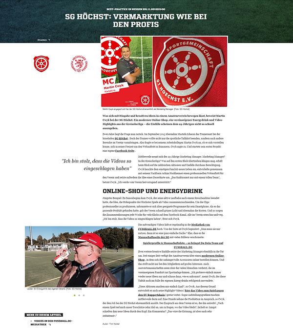 Fussball.de - Interview Martin Cwyk -SG 01 Hoechst