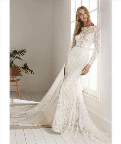 long sleeve wedding dress, boho chic