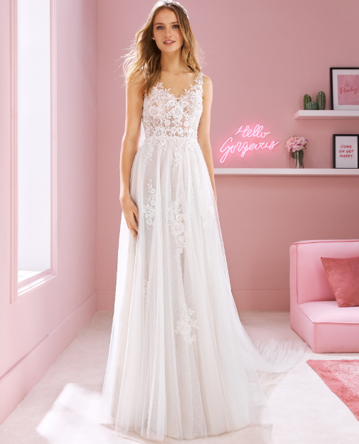 A-Line Lace & Tulle