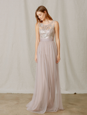 Sequin and Tulle Bridesmaid