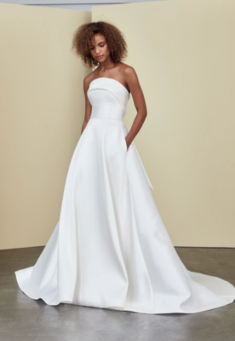 Strapless A-Line With Pockets