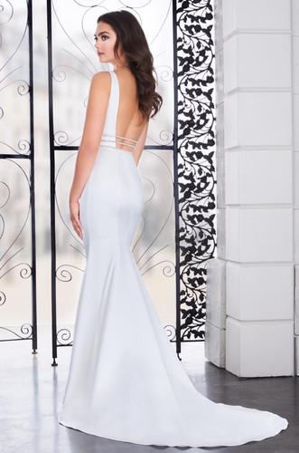Satin Mermaid Wedding Dress Low Back