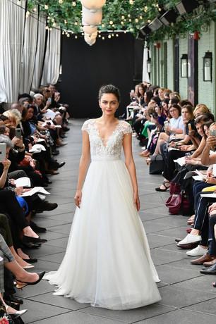 danielle dress, a-line wedding dress, bow, english net tulle, cap sleeves
