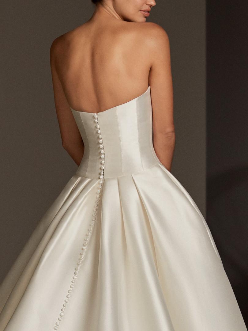 ballgown, buttons, pockets wedding dress