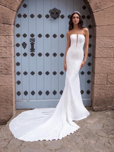 Megaclite Crepe Pronovias Mermaid Wedding Dress