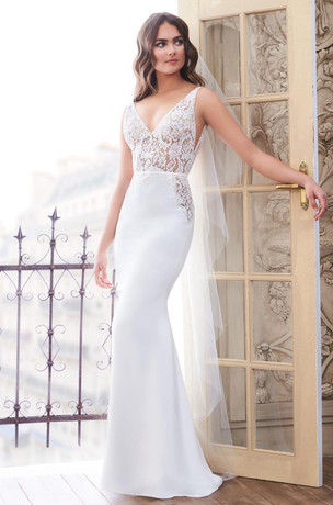 Lace & Crepe Mermaid Wedding Dress