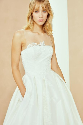 Taffeta and Lace Ballgown with Pockets