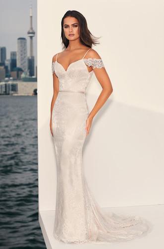 Lace Mermaid Wedding Dress Off The Shoulder Sleeves