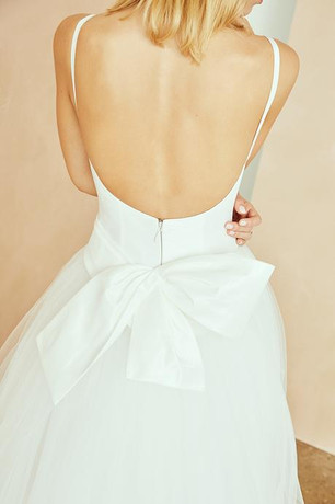 ballgown with a bow