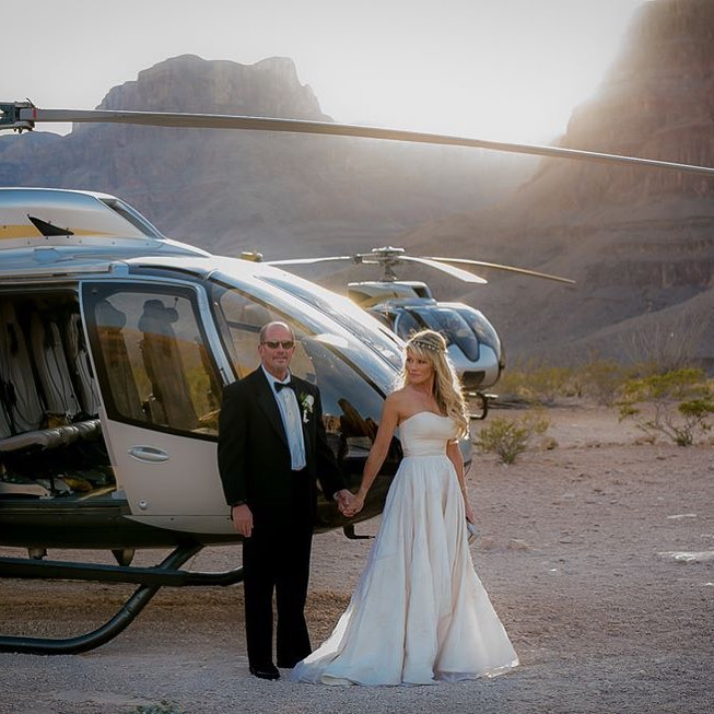 helicopter real bride