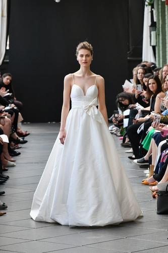 taffeta ballgown, bow, bridal, wedding dress