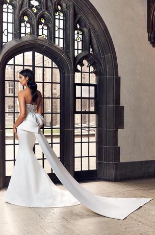 mermaid wedding dress with a bow