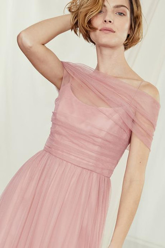Tulle off the shoulder Bridesmaids