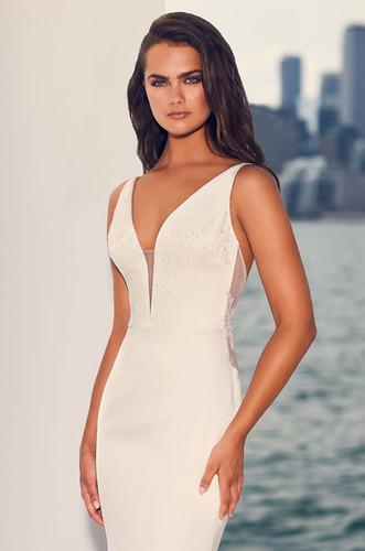 Satin & Lace Mermaid Wedding Dress Low Back