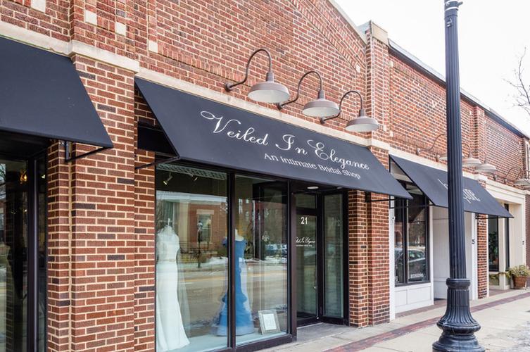 Veiled In Elegance Bridal Shop Geneva, Illinois serving Chicago and Chicagoland Area wedding dress shopping