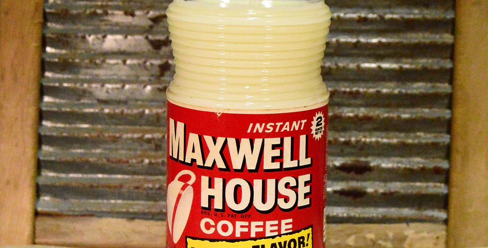 Antique Maxwell House Jar