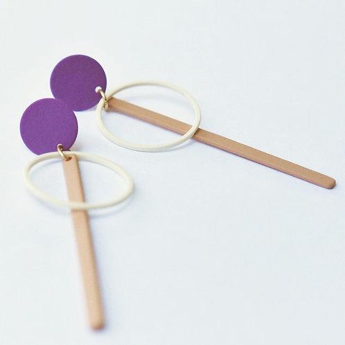 Geometrische stekers PURPLE WHITE PINK