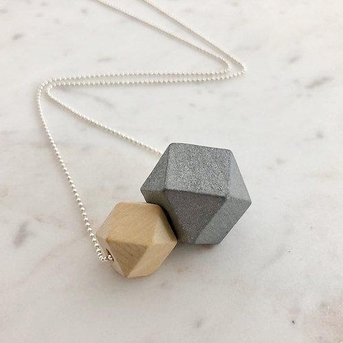 Ketting met houten parels