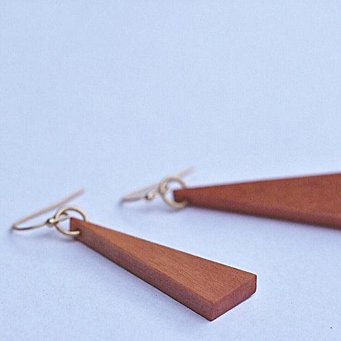 Houten hangers DRIEHOEK roest/pêche