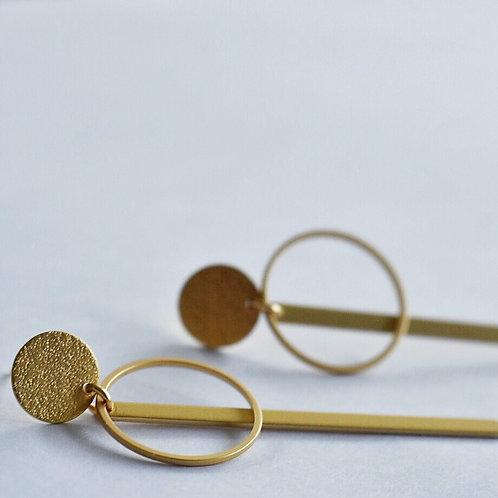 Geometrische stekers goud