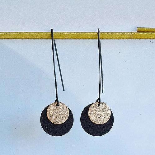 Lange hangers SCHIJFJES zwart + goud