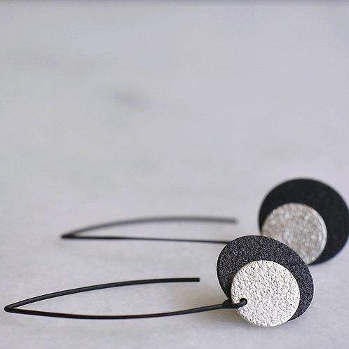 Lange hangers SCHIJFJES zwart + zilver