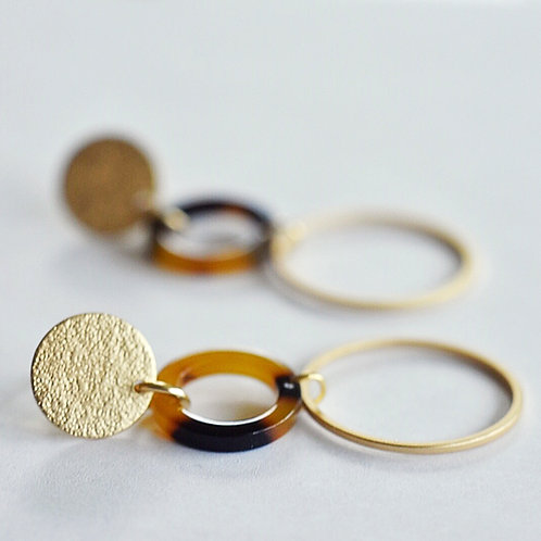 Stekers CIRCLES goud + luipaardprint