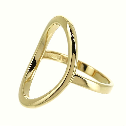 Ring verguld OVAAL