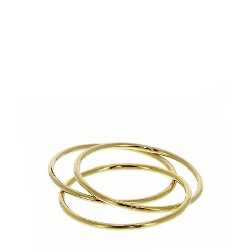 Ring verguld DRIE IN ÉÉN glanzend goud