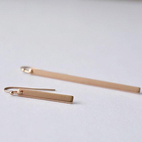 Hangers staafjes asymmetrisch GOUD/ZWART/ZILVER/ROSEGOUD