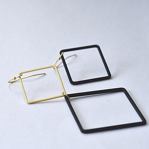 Hangers asymmetrisch vierkanten BLACK'ND GOLD