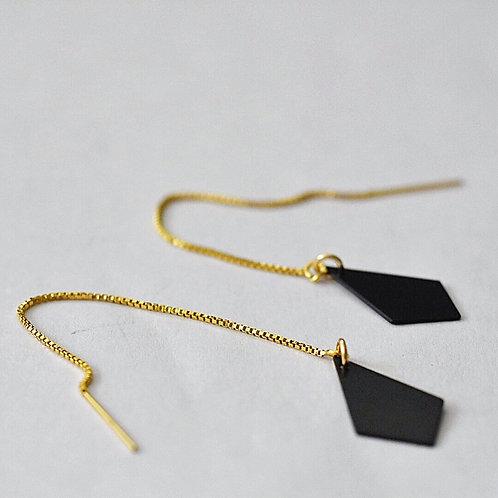 Doorsteekoorbellen vierhoekje BLACK'ND GOLD
