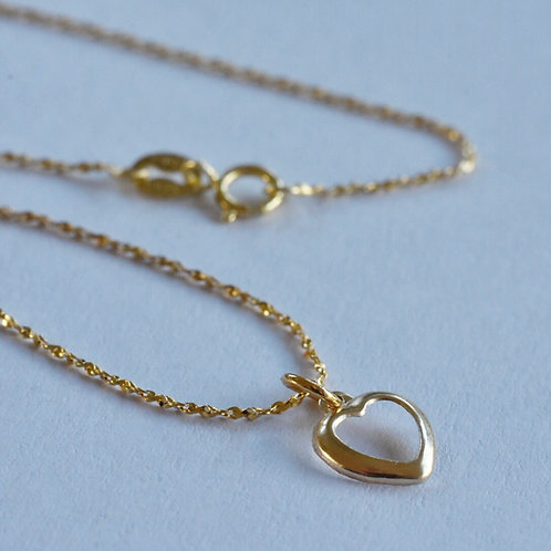 Korte ketting in verguld Sterling zilver HEART