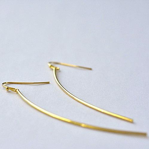 Hangers verguld fijn staafje gebogen