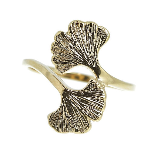 Ring verguld GINGKO