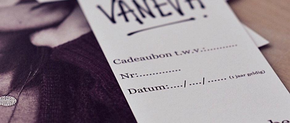 CADEAUBON VANEVA (vanaf €5)