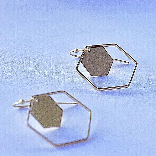 Hangers grote + kleine zeshoek