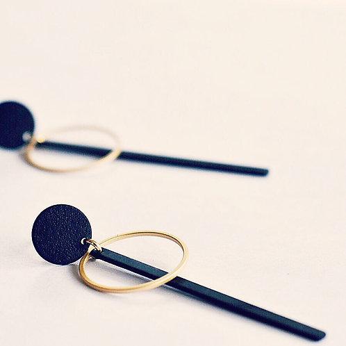 Geometrische stekers zwart + goud